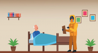 old-man-in-bed-with-biosafety-worker-stay-at-home-27244-1 Old Man In Bed With Biosafety Worker Stay At Home Footage Templates